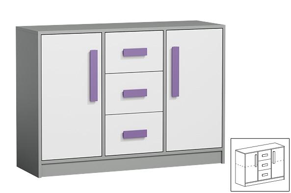 Kommode Anrichte 120cm Anthrazit Weiss Farbe Der Griffe Wahlbar