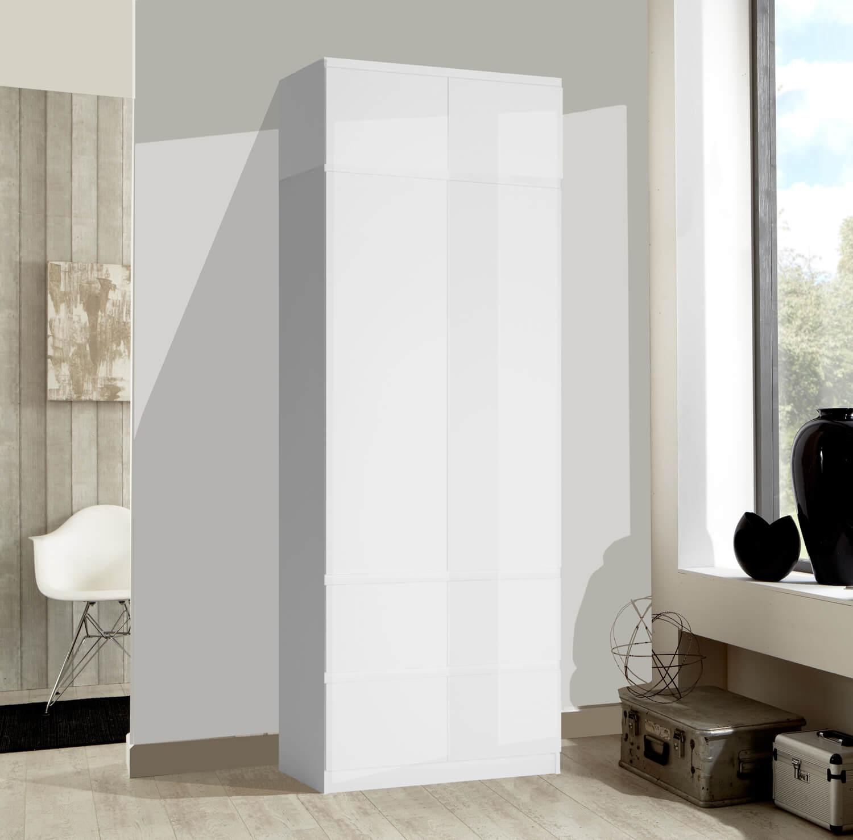 Schlafzimmer Schrank Modern Design Weisser Kleiderschrank: Kleiderschrank 91cm Weiß Hochglanz Schlafzimmer Schrank
