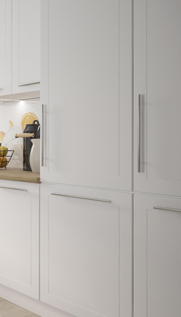 Küche Mit Kühl Gefrierkombination | Hochschrank Fur Kuhl Gefrierkombination 60cm Korpus Und