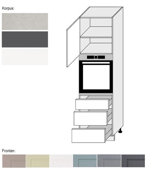 Hochschrank Küchenschrank Für Backofen 60cm Küche Farbe
