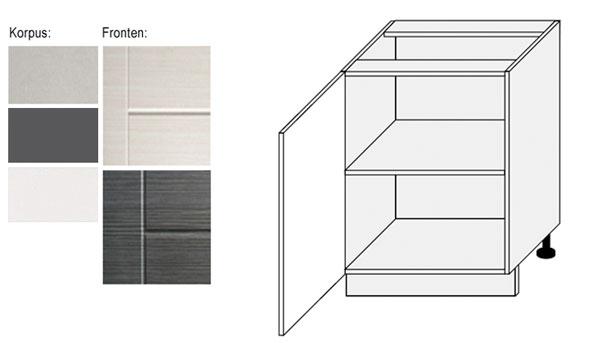 unterschrank k chenschrank 60cm k che korpus frontfarbe w hlbar ty d1d 60 ebay. Black Bedroom Furniture Sets. Home Design Ideas