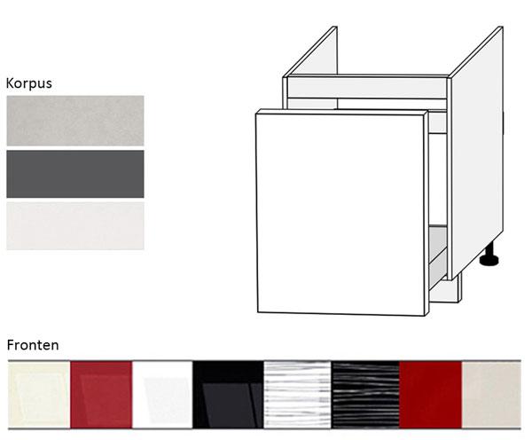 sp lenunterschrank unterschrank 60cm korpus und frontfarbe w hlbar pn d1zm 60 ebay. Black Bedroom Furniture Sets. Home Design Ideas