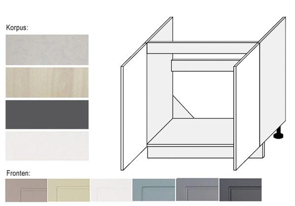 sp lenunterschrank k chenschrank unterschrank 80cm farbe w hlbar q d8z 80 ebay. Black Bedroom Furniture Sets. Home Design Ideas