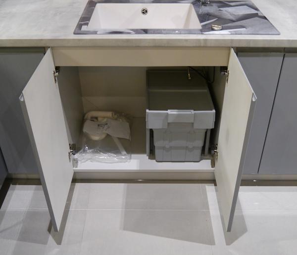 FL-D8Z//80 Küchenschrank Spülunterschrank 80cm Hochglanz lackiert Farbe wählbar