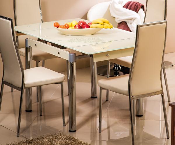 glastisch esstisch k chentisch esszimmertisch 80 131x80cm farbe w hlbar 161400 ebay. Black Bedroom Furniture Sets. Home Design Ideas