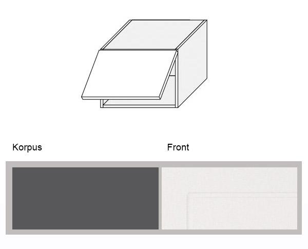 Relativ Hängeschrank Küchenschrank Küche 50cm lava / weiß (Q-W4B/50 RY71