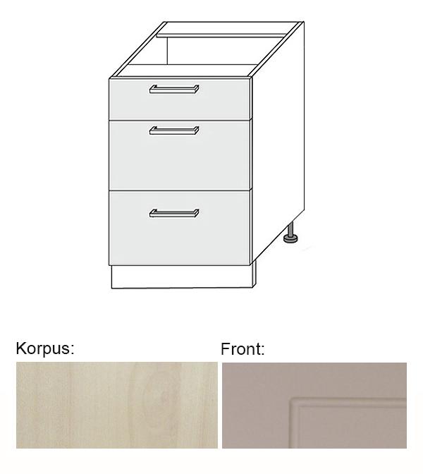 Berühmt Unterschrank Küchenschrank 50cm zu Küchenzeile jersey / beige Neu BN84