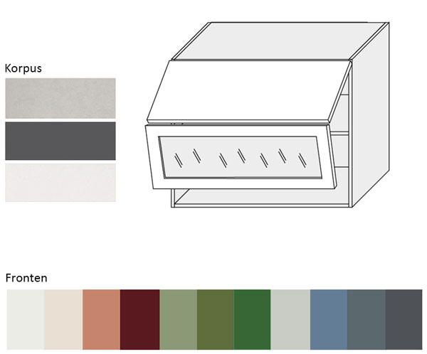 Häufig Küchenschrank Hängeschrank 90cm Korpus- und lackierte Frontfarbe XX45