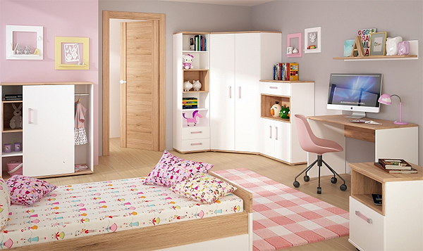 Wandregal Regal Kinderzimmer Weiss Sanremo Eiche 81cm Neu