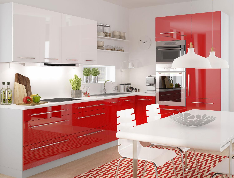 L-Form Einbauküche Küchenzeile ohne Geräte grau / rosenrot weiß ...