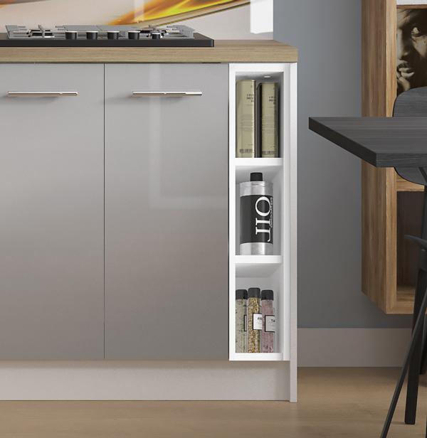 Unterschrank Küchenschrank Regal zu Küchenzeile Farbe wählbar (PN-D ...