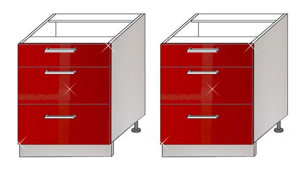 set k chenschrank zu k chenzeile unterschrank 80cm grau rosenrot hochglanz pn d3e 80 k che. Black Bedroom Furniture Sets. Home Design Ideas
