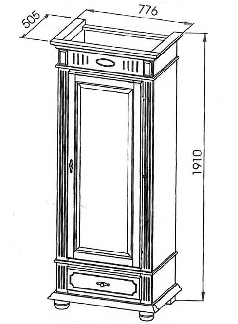 garderobenschrank 78cm fichte altwei landhaus schrank t re flur diele 72063 ebay. Black Bedroom Furniture Sets. Home Design Ideas