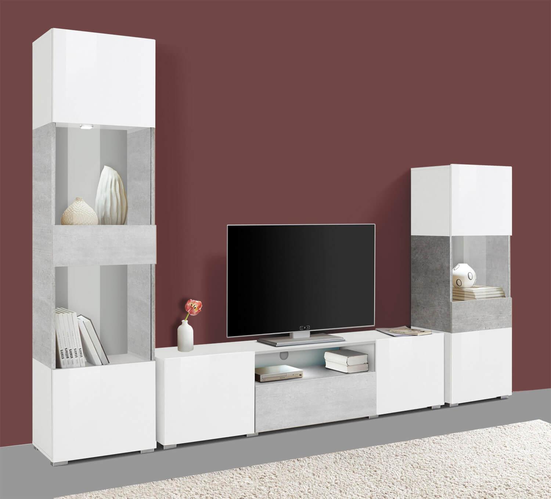 wohnwand anbauwand mediawand wohnzimmer 3 teilig 250cm. Black Bedroom Furniture Sets. Home Design Ideas