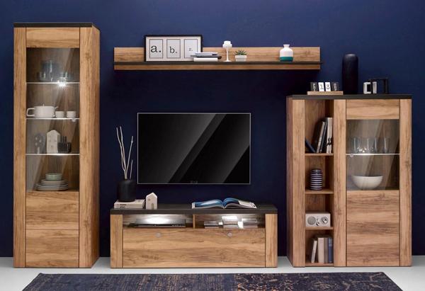 lowboard tv unterschrank fernsehschrank 140cm satin nussbaum darkwood 200315 ebay. Black Bedroom Furniture Sets. Home Design Ideas