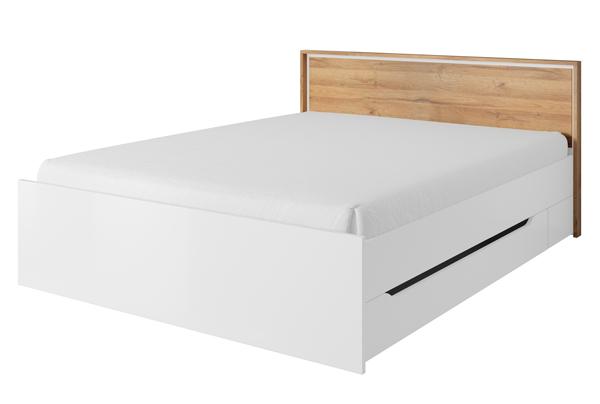 Schlafzimmer Set Kleiderschrank Bett Eiche Grandson Weiss 160x200cm