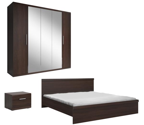Schlafzimmer Komplett 4 Teilig Sonoma Eiche Dunkel Neu Komplett