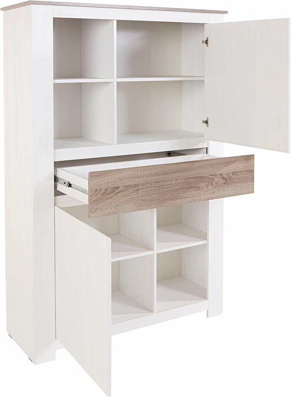 highboard anrichte schrank 112cm eiche gewei t eiche s gerau dunkel 13609229 ebay. Black Bedroom Furniture Sets. Home Design Ideas