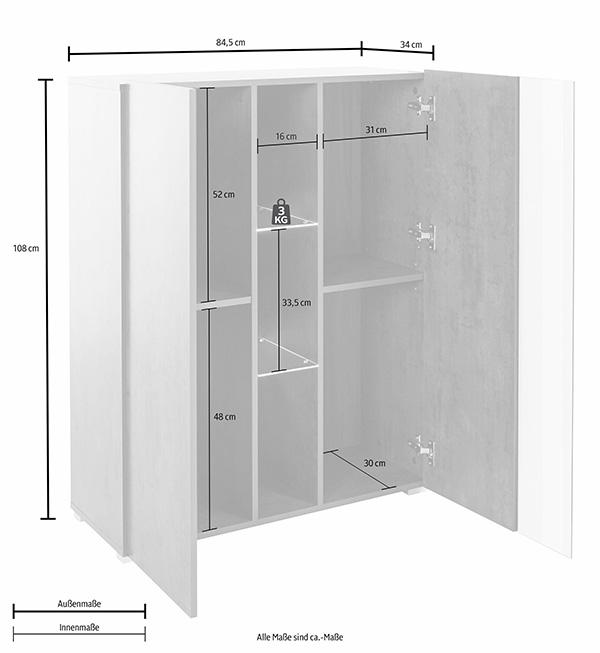 vitrine standvitrine glasvitrine vitrinenschrank 84cm stahlgrau 89885154 ebay. Black Bedroom Furniture Sets. Home Design Ideas