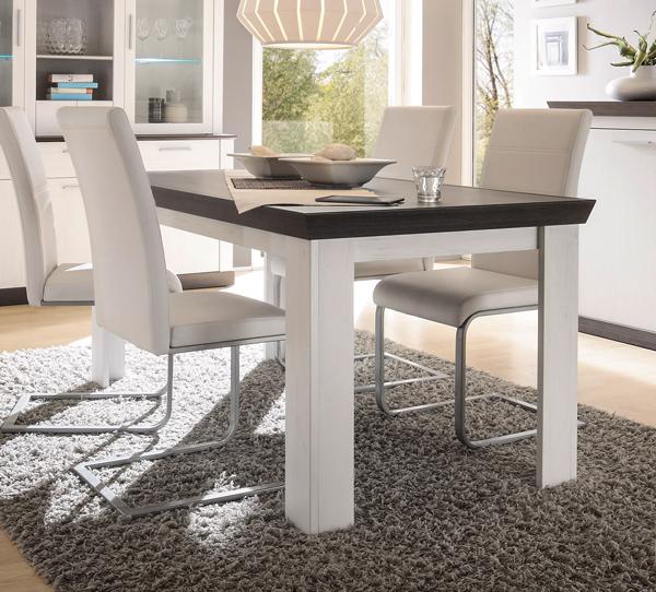 Esstisch Esszimmertisch Tisch Siena 160x90cm Pinie Weiß Wenge Neu