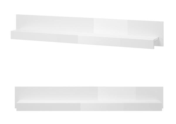 Wandregal Bücherregal Wandboard Regal Carat 150cm weiß ...