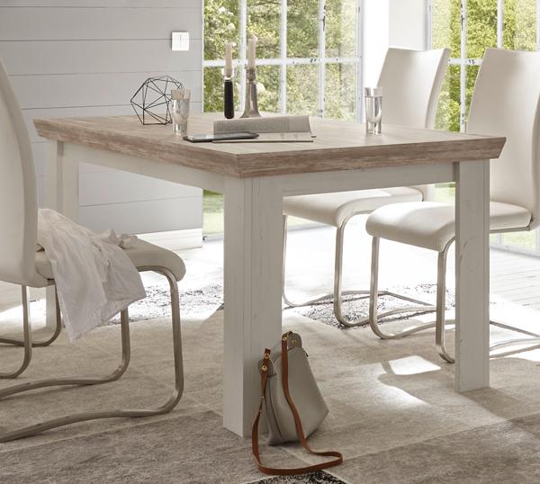 Esszimmertisch Küchentisch Tisch Florenz 160x90cm Pinie Weiß Oslo