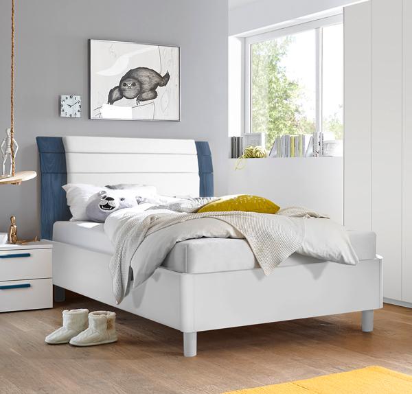 bett holzbett jugendbett futonbett bettgestell wei lack. Black Bedroom Furniture Sets. Home Design Ideas