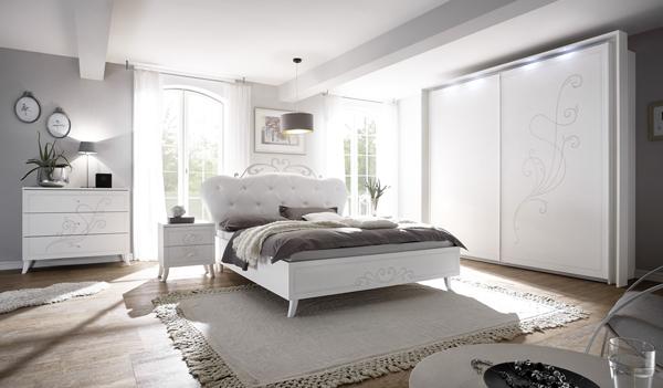 Polsterbett Futonbett Bett Weiß Kunstleder 180x200cm Neu