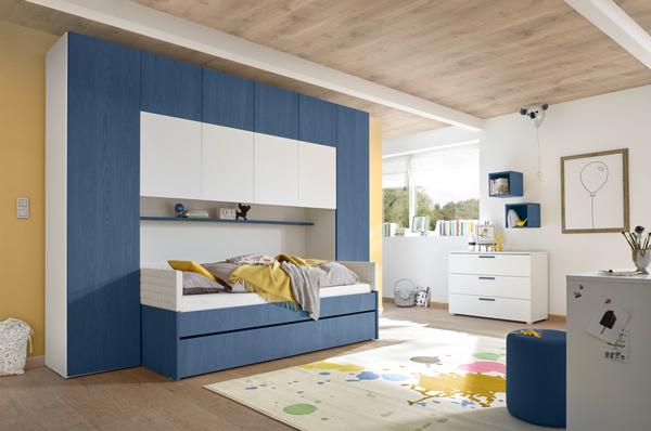 bett bettbr cke kinderbett kleiderschrank bettgestell 120x200cm grau wei 555105 ebay. Black Bedroom Furniture Sets. Home Design Ideas