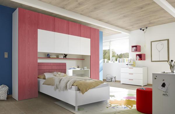 bett bettbr cke schlafzimmer set bettschublade bettgestell 120x200cm rot wei ausstattung. Black Bedroom Furniture Sets. Home Design Ideas
