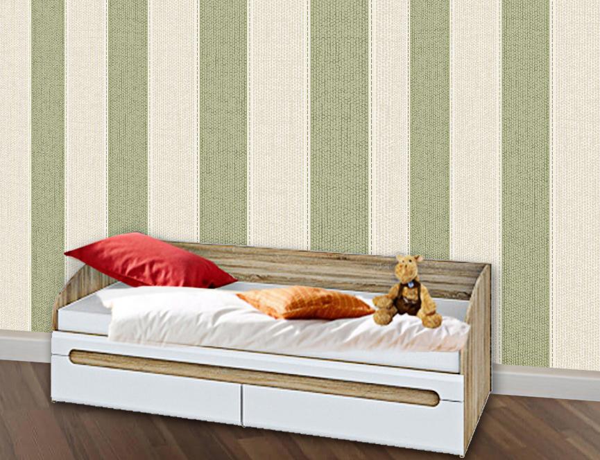 Jugendbett Bett 90 X 200cm Mit Bettkasten Sonoma Eiche Weiss