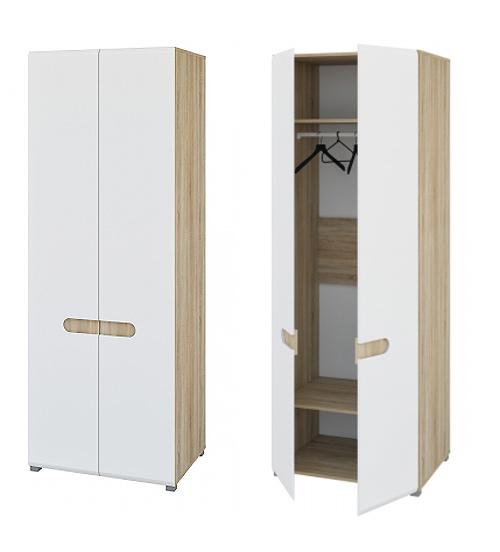 Kleiderschrank Garderobenschrank 2 Turig Sonoma Eiche Weiss