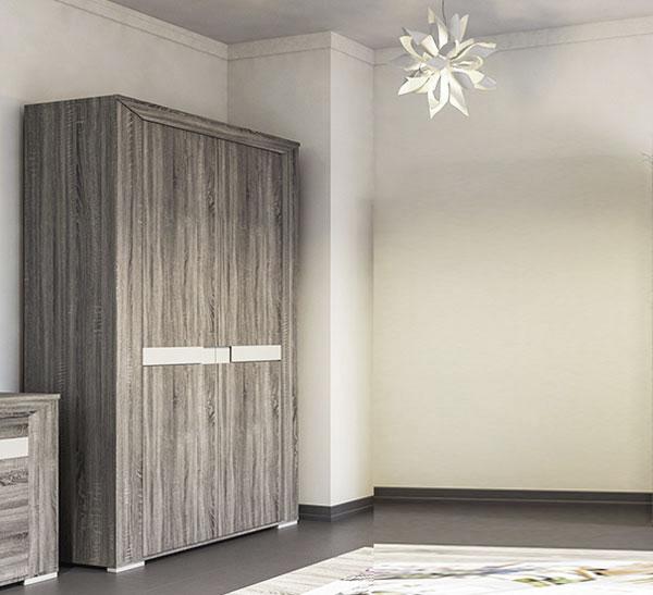 schlafzimmer schrank 120cm eiche sonoma tr ffel champagner metallisch 65259 ebay. Black Bedroom Furniture Sets. Home Design Ideas