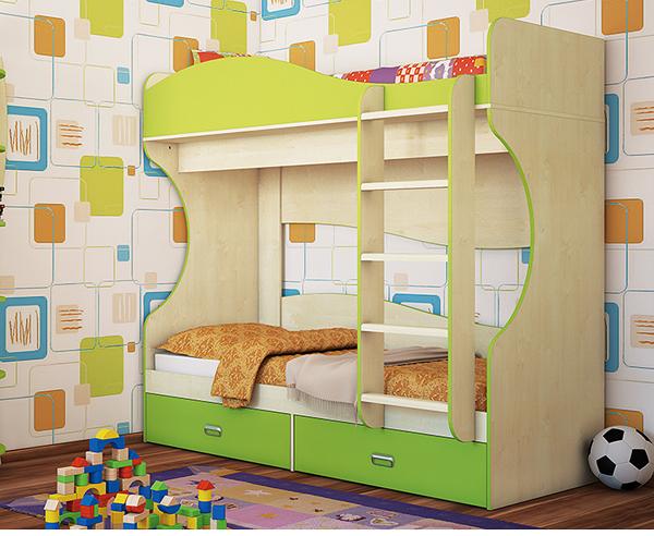 Dekoration Etagenbett : Jugendzimmer hochbett etagenbett stockbett birke lime grün neu
