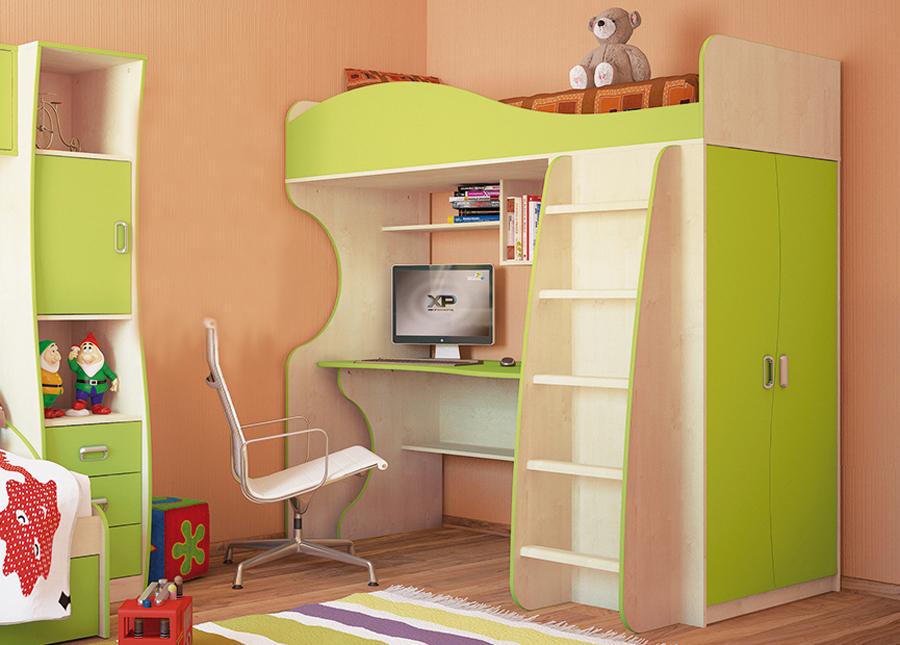 Etagenbett Mit Schrank Und Schreibtisch : Hochbett etagenbett kombibett schreibtisch kinderzimmer birke
