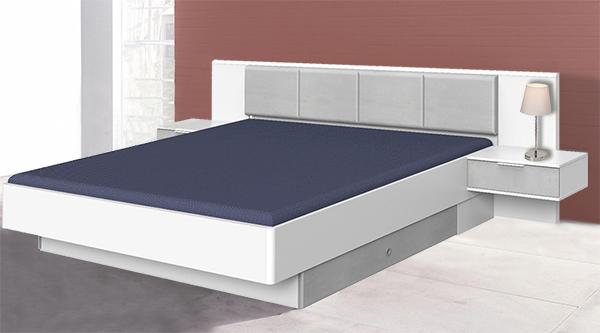 wimex bett doppelbett bettschubladen 180x200cm wei beton lichtgrau 49688838 ebay. Black Bedroom Furniture Sets. Home Design Ideas