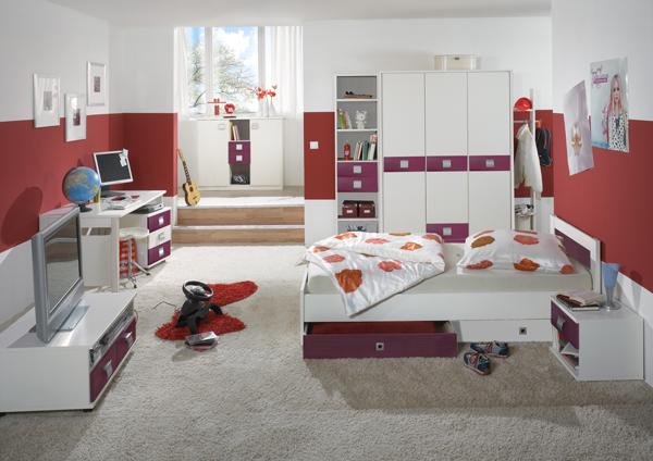 Bett Jugendbett Kinderzimmer Jalta weiß 90x200cm Neu ...