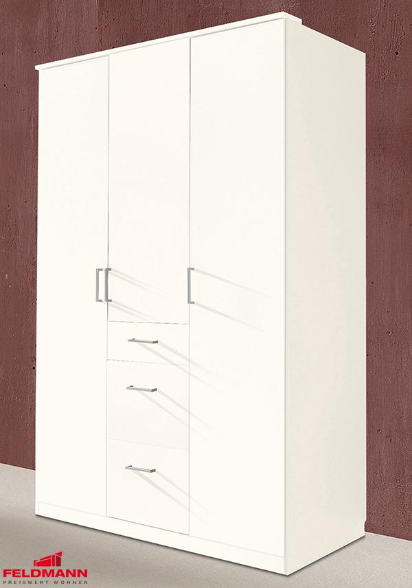 kleiderschrank schrank click wei 3 t rig 135cm 13112 kleiderschr nke schlafzimmer. Black Bedroom Furniture Sets. Home Design Ideas