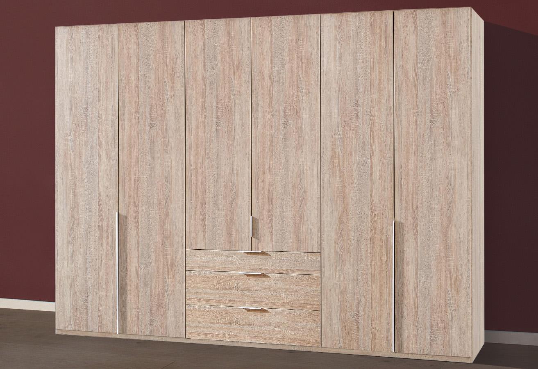 Wimex New York Kleiderschrank 270cm Eiche Sagerau Schlafzimmer