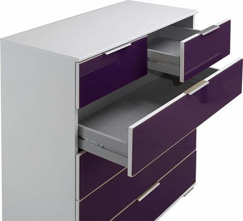 wimex easy plus kommode wei glas brombeer schubladen modern sideboard 884856 ebay. Black Bedroom Furniture Sets. Home Design Ideas