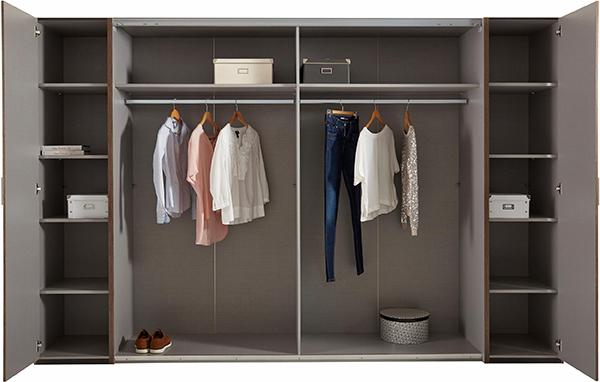 wimex schwebet renschrank kleiderschrank wei beton lichtgrau 270cm 98097401 ebay. Black Bedroom Furniture Sets. Home Design Ideas