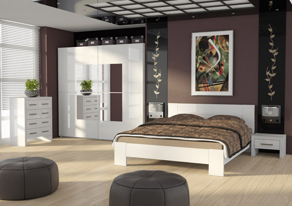 schwebet renschrank kleiderschrank 219cm mit spiegel wei. Black Bedroom Furniture Sets. Home Design Ideas