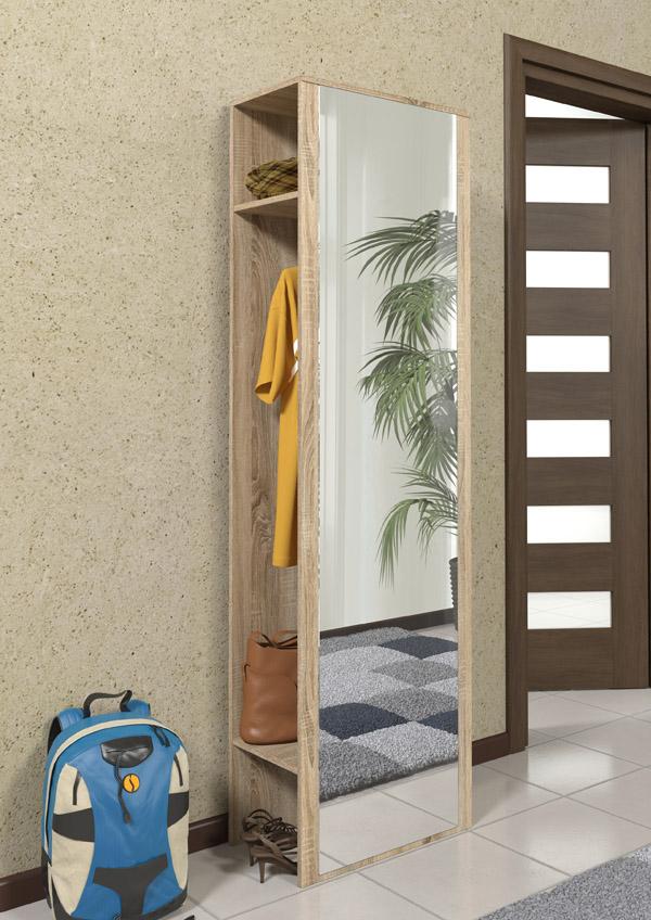diele garderobe flurgarderobe garderobenschrank m spiegel sonoma eiche neu 27 ebay. Black Bedroom Furniture Sets. Home Design Ideas