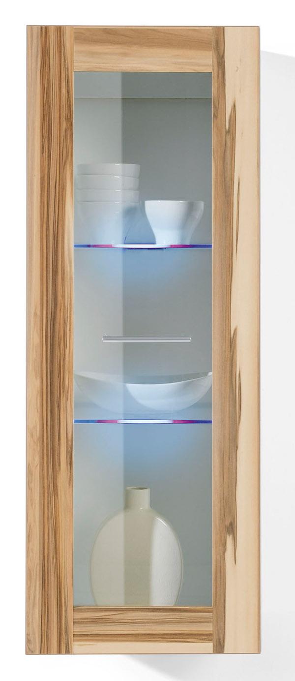 h ngeschrank h ngevitrine baltimore weiss glas mit led. Black Bedroom Furniture Sets. Home Design Ideas