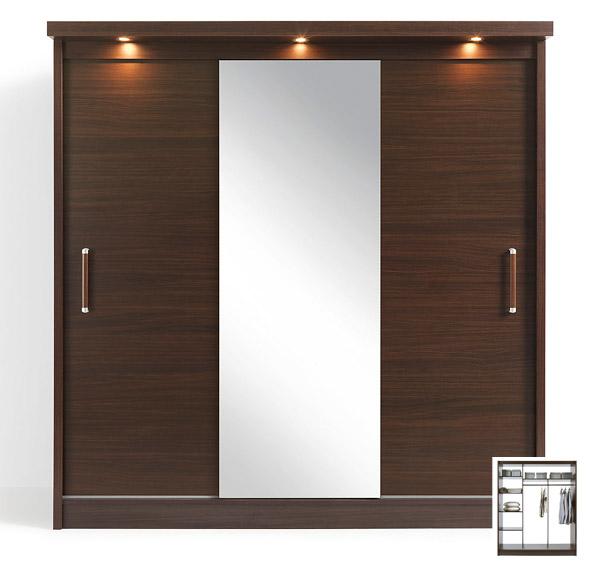 Kleiderschrank Schrank Schlafzimmer Mit Spiegel Und Beleuchtung