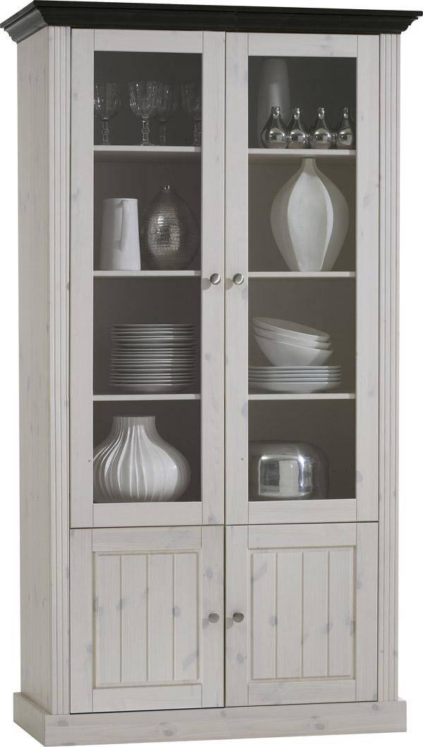 vitrine standvitrine glasvitrine glast r 2 t rig kiefer. Black Bedroom Furniture Sets. Home Design Ideas