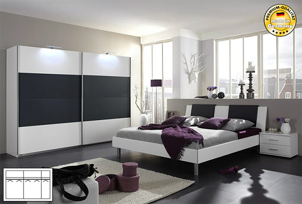 schlafzimmer anthrazit m belideen. Black Bedroom Furniture Sets. Home Design Ideas