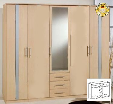 kleiderschranksysteme offen kleiderschrank 291 cm breite. Black Bedroom Furniture Sets. Home Design Ideas