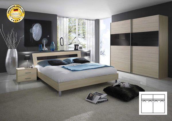 Schlafzimmer grau lila ~ Pin Details Zu Schlafzimmer Komplett 4 Tlg ...