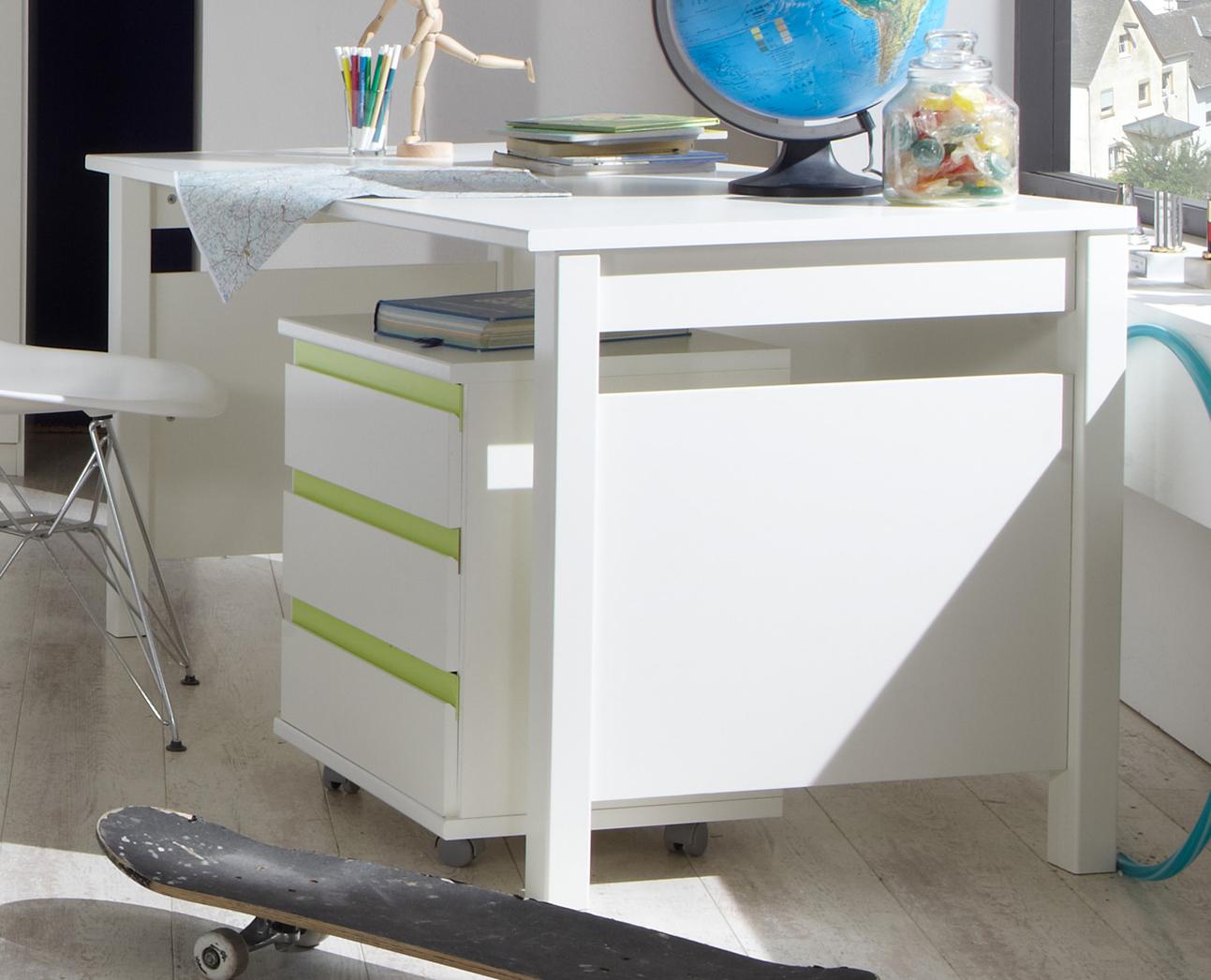 Schreibtisch PC Tisch Computertisch Kinderzimmer Bibi weiß Neu ...